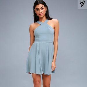 Lulu's Light Blue Skater Dress